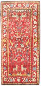 Kashmar Rug 108X235 Authentic Oriental Handknotted Crimson Red/Dark Beige (Wool, Persia/Iran)
