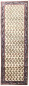 Tabriz Teppe 95X285 Ekte Orientalsk Håndknyttet Teppeløpere Beige/Lys Grå (Ull, Persia/Iran)