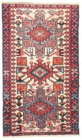 Heriz Koberec 50X85 Orientální Ručně Tkaný Tmavošedý/Světle Růžová (Vlna, Persie/Írán)