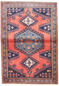 Wiss Matta 100X145 Äkta Orientalisk Handknuten Ljusrosa/Mörklila (Ull, Persien/Iran)