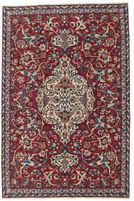 Yazd Patina Teppe 180X270 Ekte Orientalsk Håndknyttet Mørk Lilla/Mørk Rød (Ull, Persia/Iran)