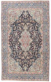 Kerman Patina Alfombra 117X198 Oriental Hecha A Mano Gris Oscuro/Gris Claro (Lana, Persia/Irán)