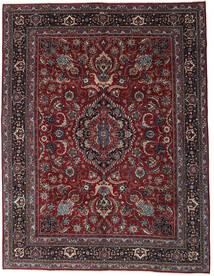 Mashad Patina Tappeto 304X398 Orientale Fatto A Mano Rosso Scuro/Grigio Scuro Grandi (Lana, Persia/Iran)