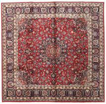 Mashad Matta 285X290 Äkta Orientalisk Handknuten Kvadratisk Mörkbrun/Röd Stor (Ull, Persien/Iran)