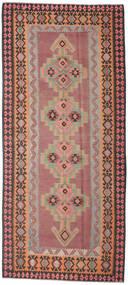 Kelim Fars Matto 175X393 Itämainen Käsinkudottu Käytävämatto Ruskea/Musta (Villa, Persia/Iran)