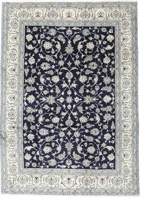 Nain Rug 245X340 Authentic  Oriental Handknotted Light Grey/Dark Purple (Wool, Persia/Iran)