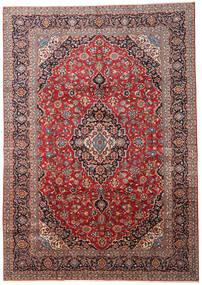 Yazd Matta 315X452 Äkta Orientalisk Handknuten Mörkbrun/Mörkröd Stor (Ull, Persien/Iran)