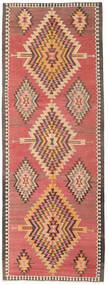 Kilim Fars Tapis 140X385 D'orient Tissé À La Main Tapis Couloir Rouge Foncé/Marron Clair (Laine, Perse/Iran)