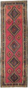 Kelim Fars Matto 136X415 Itämainen Käsinkudottu Käytävämatto Tummanharmaa/Ruskea (Villa, Persia/Iran)