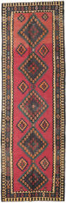 Kilim Fars Rug 136X415 Authentic  Oriental Handwoven Hallway Runner  Dark Grey/Brown (Wool, Persia/Iran)