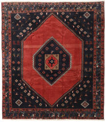 Klardasht Vloerkleed 253X288 Echt Oosters Handgeknoopt Donkerrood/Donkerblauw Groot (Wol, Perzië/Iran)