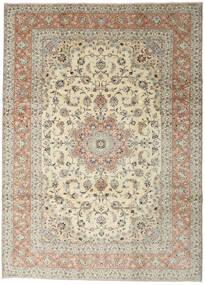 Yazd Rug 248X345 Authentic  Oriental Handknotted Beige/Light Grey (Wool, Persia/Iran)