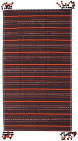 Kilim Fars Rug 205X365 Authentic  Oriental Handwoven Dark Grey/Dark Brown (Wool, Persia/Iran)