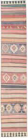 Kilim Fars Rug 77X400 Authentic  Oriental Handwoven Hallway Runner  Light Grey/Light Pink (Wool, Persia/Iran)