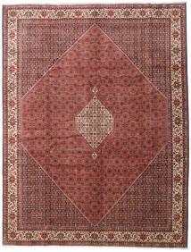 Bidjar Zanjan Matta 300X390 Äkta Orientalisk Handknuten Mörkbrun/Mörkröd Stor (Ull, Persien/Iran)