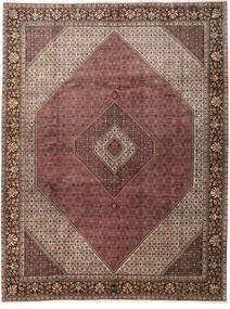 Bidjar Matta 303X396 Äkta Orientalisk Handknuten Mörkröd/Mörkbrun Stor (Ull, Persien/Iran)
