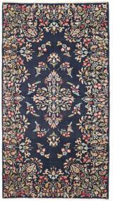 Kerman Patina Teppe 92X170 Ekte Orientalsk Håndknyttet Teppeløpere Mørk Grå/Mørk Blå (Ull, Persia/Iran)
