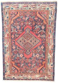Hamadan Patina Matta 77X115 Äkta Orientalisk Handknuten Beige/Ljusrosa (Ull, Persien/Iran)