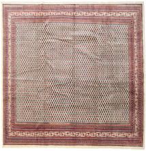 Sarough Mir Matta 317X320 Äkta Orientalisk Handknuten Kvadratisk Ljusgrå/Mörkröd Stor (Ull, Persien/Iran)