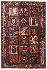 Bachtiar Teppich  143X214 Echter Orientalischer Handgeknüpfter Dunkelrot (Wolle, Persien/Iran)