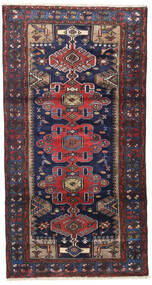 Tarom Rug 100X190 Authentic  Oriental Handknotted Black/Dark Grey (Wool, Persia/Iran)