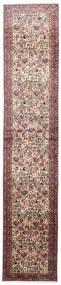ルドバー 絨毯 75X380 オリエンタル 手織り 廊下 カーペット 深紅色の/薄い灰色 (ウール, ペルシャ/イラン)