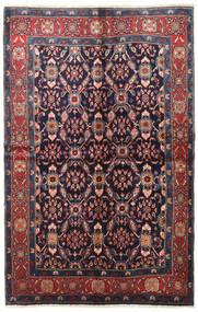 Nahavand Tapis 147X230 D'orient Fait Main Noir/Rouge Foncé (Laine, Perse/Iran)