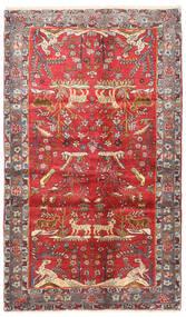 Najafabad Vloerkleed 122X208 Echt Oosters Handgeknoopt Donkerrood/Roestkleur/Beige (Wol, Perzië/Iran)