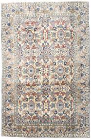 Yazd Rug 196X303 Authentic  Oriental Handknotted Light Grey/Beige (Wool, Persia/Iran)