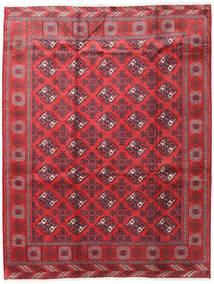Turkaman Matto 207X272 Itämainen Käsinsolmittu Punainen/Tummanpunainen (Villa, Persia/Iran)