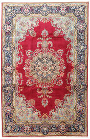 Kerman Rug 198X307 Authentic  Oriental Handknotted Dark Red/Beige (Wool, Persia/Iran)