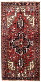 Heriz Tapis 120X240 D'orient Fait Main Rouge Foncé/Noir (Laine, Perse/Iran)
