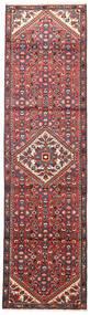 Hosseinabad Tapis 75X270 D'orient Fait Main Tapis Couloir Rouge Foncé/Rouille/Rouge (Laine, Perse/Iran)