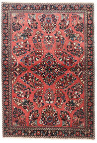 Sarouk Rug 100X145 Authentic  Oriental Handknotted Dark Red/Dark Brown (Wool, Persia/Iran)
