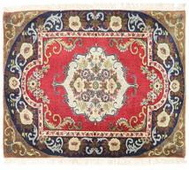 Tabriz Koberec 74X90 Orientální Ručně Tkaný Béžová/Černá (Vlna, Persie/Írán)