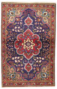 Tabriz Tappeto 93X147 Orientale Fatto A Mano Nero/Rosso Scuro (Lana, Persia/Iran)