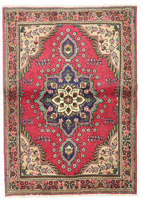Tabriz Teppe 102X145 Ekte Orientalsk Håndknyttet Mørk Grå/Mørk Rød/Rust (Ull, Persia/Iran)
