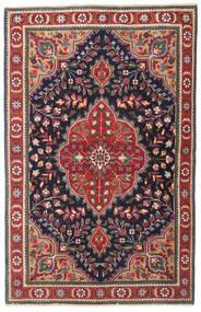 Tabriz Patina Matto 98X150 Itämainen Käsinsolmittu Tummanharmaa/Tummanpunainen (Villa, Persia/Iran)
