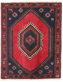 Klardasht Matto 83X106 Itämainen Käsinsolmittu Punainen/Tummanharmaa (Villa, Persia/Iran)