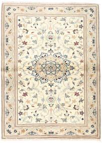 Yazd Matto 100X138 Itämainen Käsinsolmittu Beige/Vaaleanharmaa (Villa, Persia/Iran)
