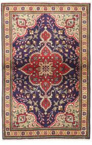 Tabriz Matto 97X150 Itämainen Käsinsolmittu Tummanvioletti/Tummanpunainen (Villa, Persia/Iran)