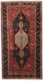 Hamadan Matto 153X295 Itämainen Käsinsolmittu Käytävämatto Tummanpunainen/Tummanruskea (Villa, Persia/Iran)