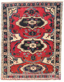 Hamadan Rug 75X95 Authentic  Oriental Handknotted Dark Grey/Beige (Wool, Persia/Iran)