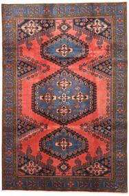 Wiss Matta 210X315 Äkta Orientalisk Handknuten Mörkröd/Mörkgrå (Ull, Persien/Iran)