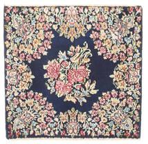Kerman Teppich  60X60 Echter Orientalischer Handgeknüpfter Quadratisch Dunkelgrau/Beige (Wolle, Persien/Iran)