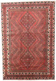 Afshar/Sirjan Teppe 190X280 Ekte Orientalsk Håndknyttet Mørk Rød/Mørk Grå (Ull, Persia/Iran)