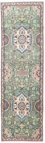 Nain Rug 87X280 Authentic  Oriental Handknotted Hallway Runner  Dark Grey/Beige (Wool, Persia/Iran)