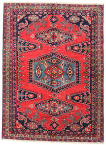 Wiss Rug 160X223 Authentic  Oriental Handknotted Crimson Red/Dark Purple (Wool, Persia/Iran)