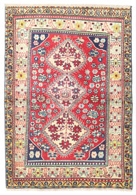 Najafabad Rug 95X135 Authentic  Oriental Handknotted Dark Beige/Dark Grey (Wool, Persia/Iran)