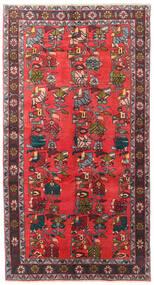 Ardebil Matta 139X256 Äkta Orientalisk Handknuten Mörkbrun/Röd (Ull, Persien/Iran)